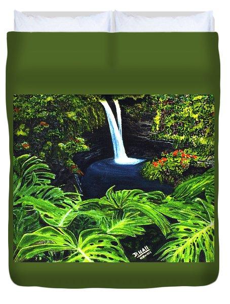 Rainbow Falls #83 Duvet Cover by Donald k Hall
