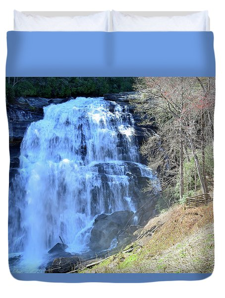 Rainbow Falls In Gorges State Park Nc 02 Duvet Cover by Bruce Gourley