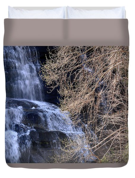 Rainbow Falls In Gorges State Park Nc 03 Duvet Cover by Bruce Gourley
