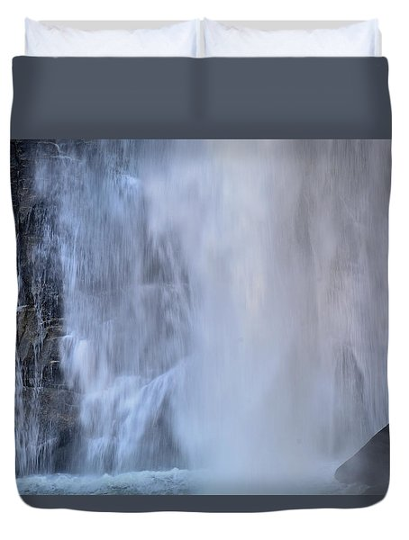 Rainbow Falls In Gorges State Park Nc Duvet Cover by Bruce Gourley