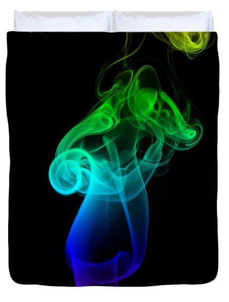 Rainbow Flame Duvet Cover by Alexander Butler