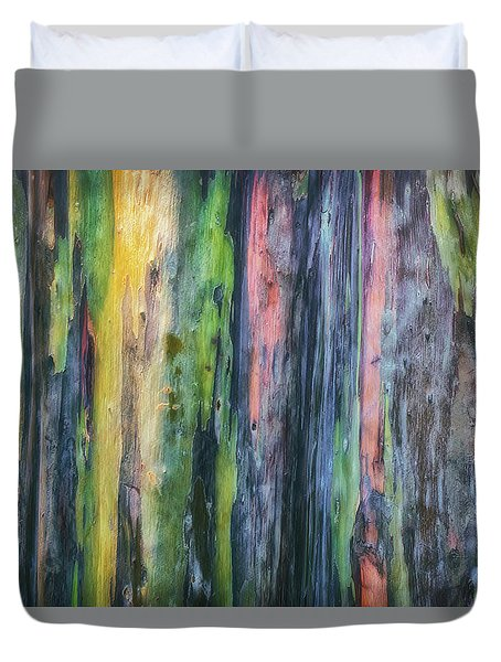 Duvet Cover featuring the photograph Rainbow Forest by Ryan Manuel