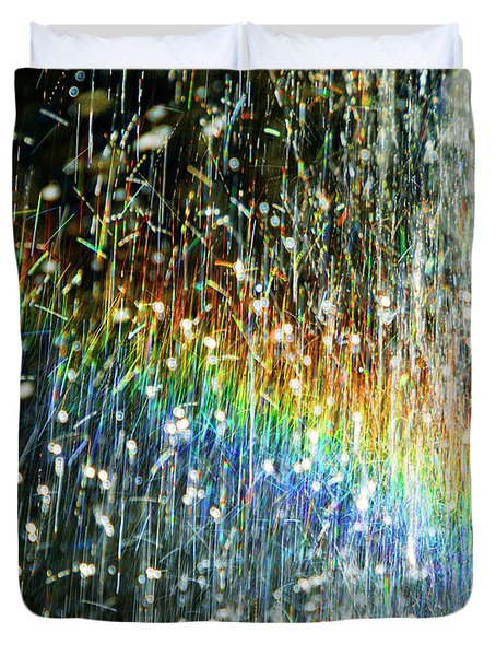 Rainbow Fountain Duvet Cover by Francesa Miller