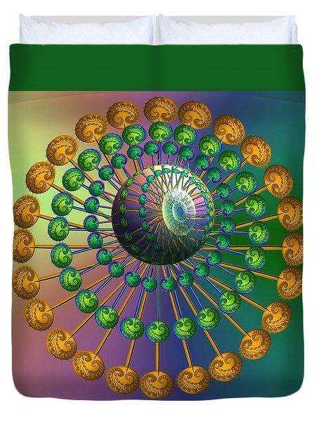 Rainbow Fractal Duvet Cover
