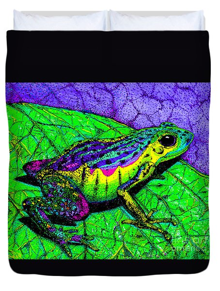 Rainbow Frog 2 Duvet Cover by Nick Gustafson