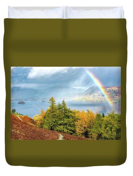 Rainbow Gold Duvet Cover