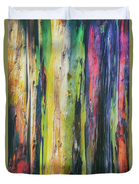 Duvet Cover featuring the photograph Rainbow Grove by Ryan Manuel