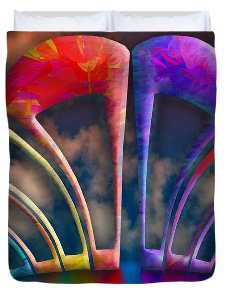 Rainbow Hill Duvet Cover