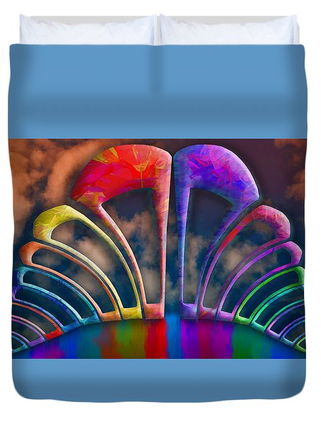 Rainbow Hill Duvet Cover by Paul Wear