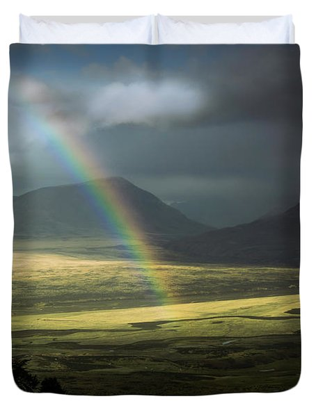 Rainbow In The Valley Duvet Cover by Andrew Matwijec