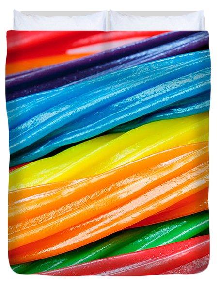 Rainbow Licorice Duvet Cover