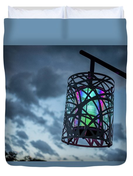 Rainbow Light Duvet Cover