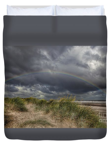 Rainbow Lighthouse Duvet Cover by Adrian Evans