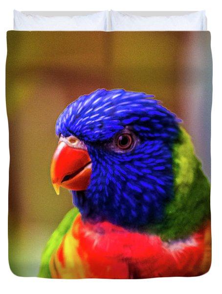 Rainbow Lorikeet Duvet Cover