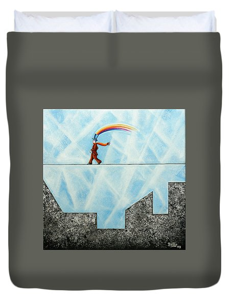 Rainbow Man Duvet Cover