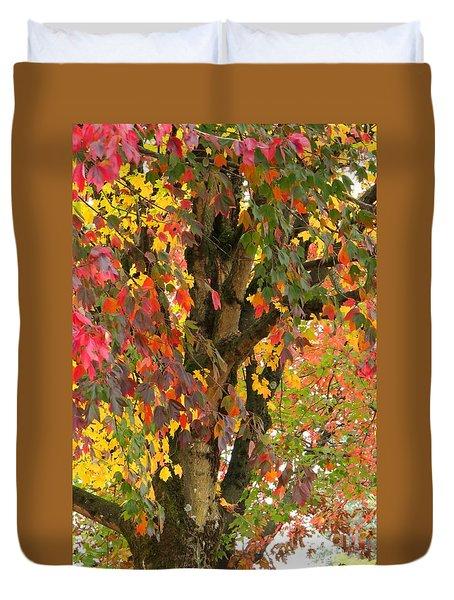 Rainbow Maple Duvet Cover