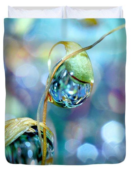 Rainbow Moss Drops Duvet Cover