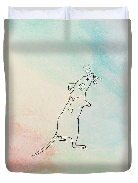 Rainbow Mouse Duvet Cover