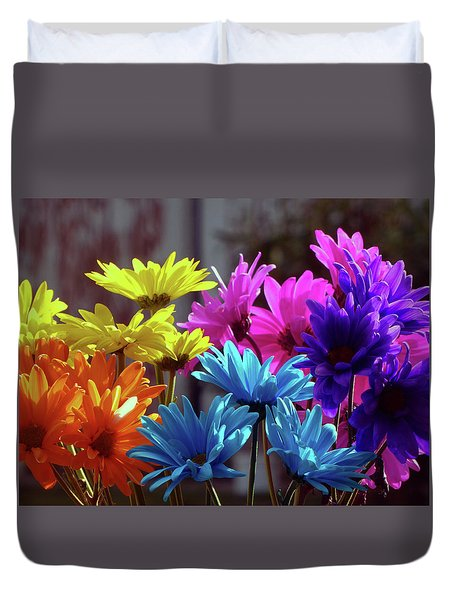 Rainbow Mums 5 Of 5 Duvet Cover