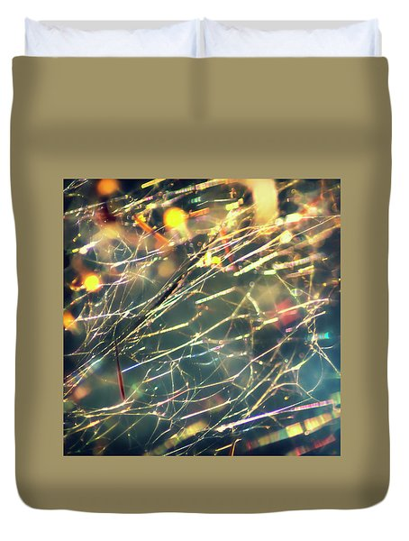 Rainbow Network Duvet Cover