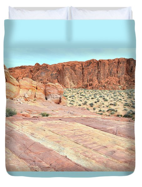 Duvet Cover featuring the photograph Rainbow Of Color In Valley Of Fire by Ray Mathis