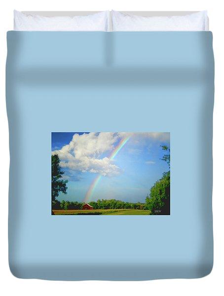 Rainbow On The Farm Duvet Cover