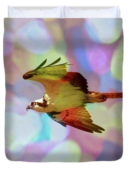Rainbow Osprey Duvet Cover