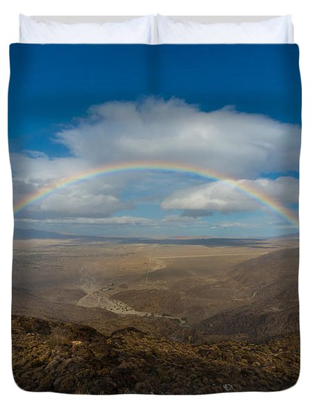 Rainbow Over Borrego Springs Duvet Cover