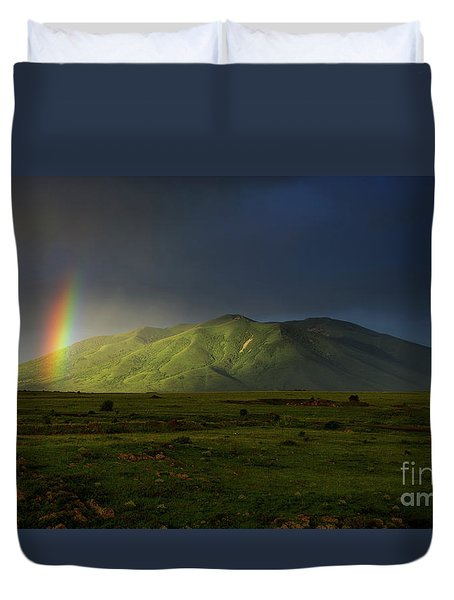 Rainbow Over Mount Ara After Storm, Armenia Duvet Cover