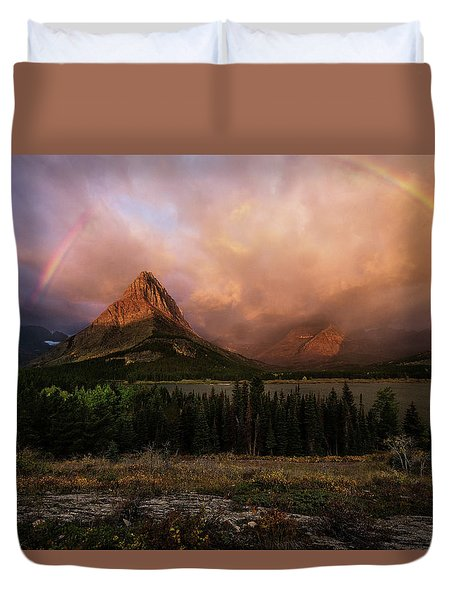 Rainbow Over Mt Gould Duvet Cover
