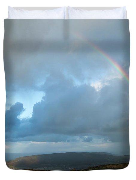 Rainbow Over Porlock Hill Duvet Cover