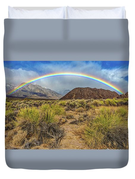 Rainbow Over The Sierra Duvet Cover
