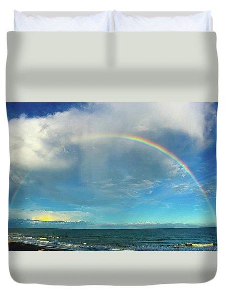 Rainbow Over Topsail Island Duvet Cover