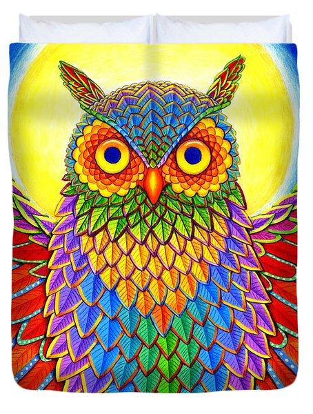 Rainbow Owl Duvet Cover