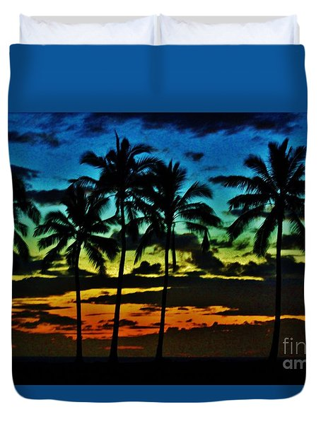 Rainbow Palms Duvet Cover by Craig Wood