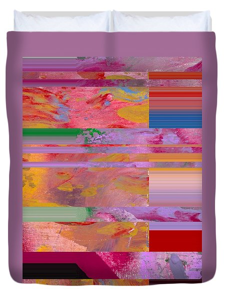 Duvet Cover featuring the painting Rainbow Patches by Robert Margetts