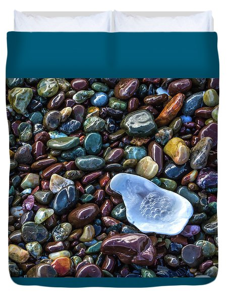 Rainbow Pebbles Duvet Cover