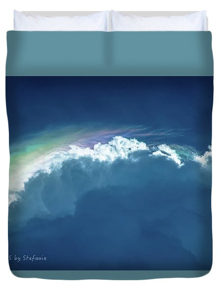 Rainbow Peeking Duvet Cover