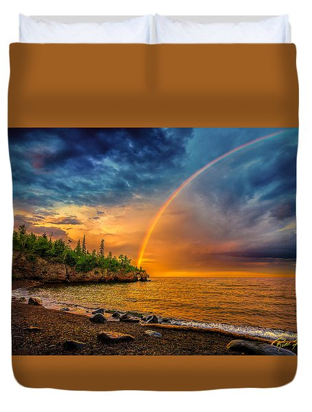 Rainbow Point Duvet Cover by Rikk Flohr