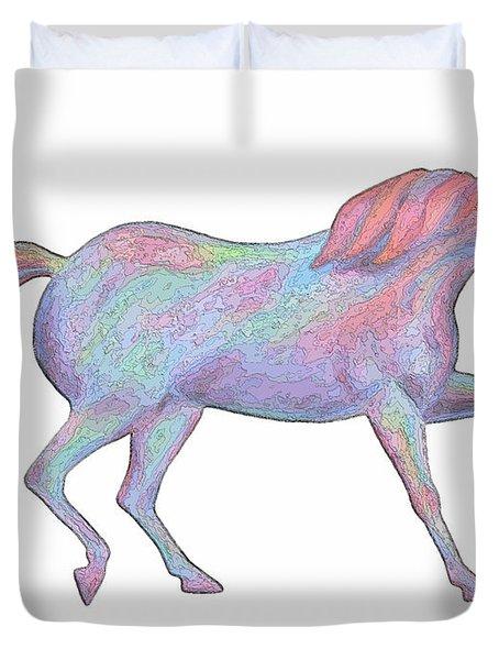 Rainbow Pony II Duvet Cover