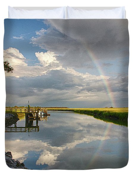 Rainbow Reflection Duvet Cover