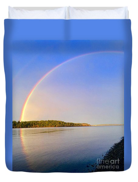 Rainbow Reflection Duvet Cover by Sean Griffin