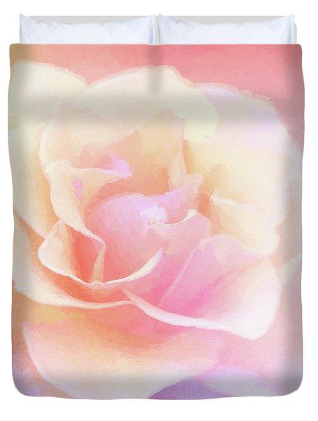 Rainbow Rose Duvet Cover