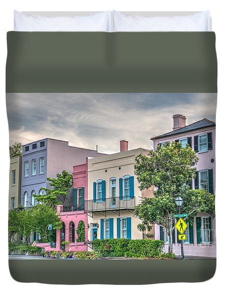 Rainbow Row II Duvet Cover