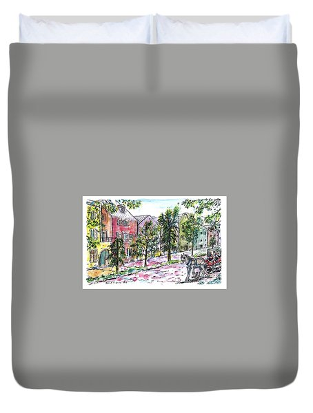 Rainbow Row Duvet Cover
