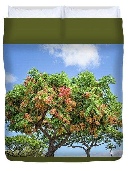 Duvet Cover featuring the photograph Rainbow Shower Tree 1 by Jim Thompson