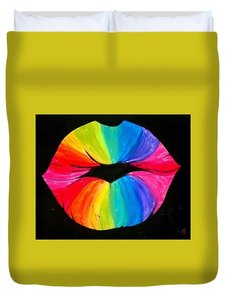 Rainbow Smooch Duvet Cover