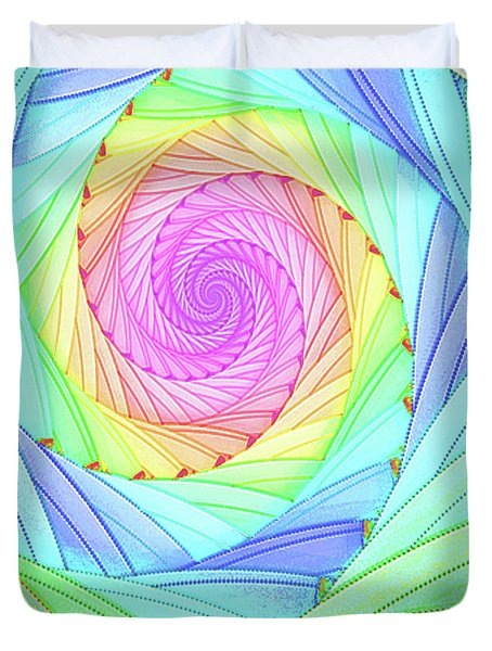 Rainbow Spiral Duvet Cover