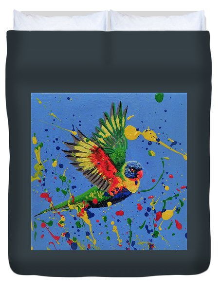 Rainbow Splash Duvet Cover