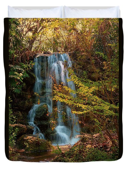 Duvet Cover featuring the photograph Rainbow Springs Waterfall by Louis Ferreira